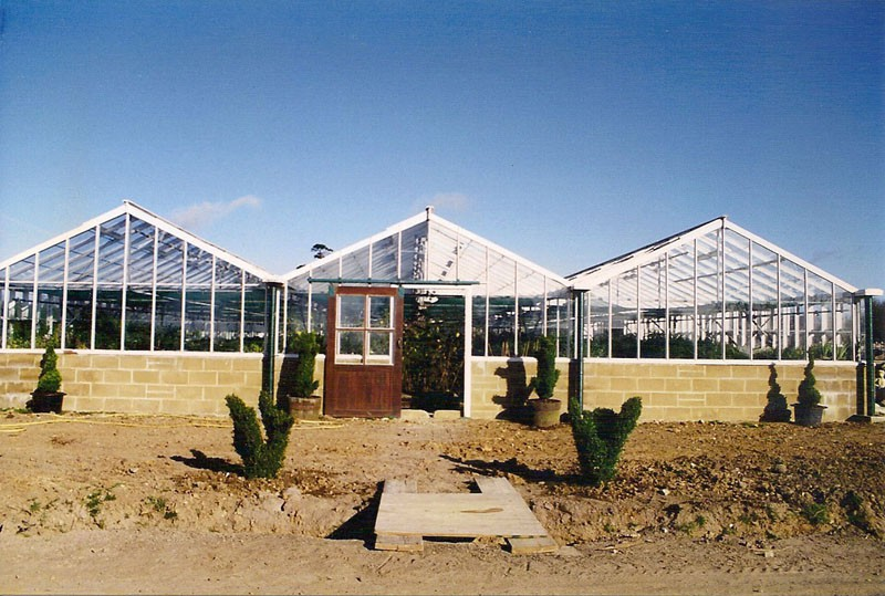 Image of the newly constructed greenhouse at Victoriana.