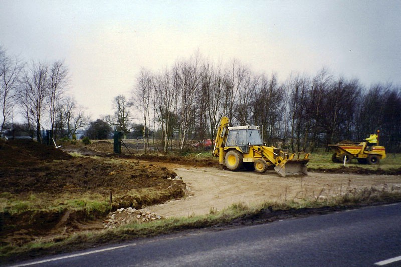 Image of the construction of the new entrance road at Victoriana.